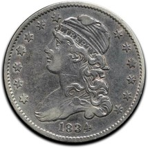 1834Capped Bust Silver 25¢ Quarter Coin Lot# A 510
