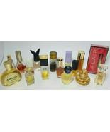 Lot 16 Perfumes Colognes Chanel Lauder Calvin Klein Dana Guerlain Houbig... - $44.50
