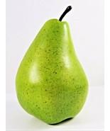 Flora Bunda Jumbo Artificial Pear Oversized Realistic 8 Inch Yellow-Gree... - $21.66