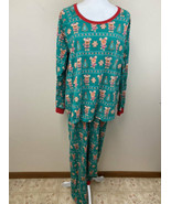 Disney Store XL Xmas Gingerbread Cookie Mickey Mouse Pajama Set Green Red - $29.99