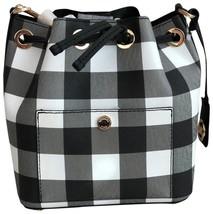 NWT MICHAEL KORS GREENWICH SMALL BUCKET CROSSBODY BAG - Black DENIM WHITE - $108.89