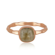 Labradorite Gemstone Rose Gold Plated 925 Silver Ring Handmade Jewelry GIFT - $15.84