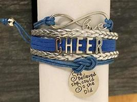 Cheer Infinity Charm Bracelet, Custom Girls She Believed She Could So Sh... - $12.50