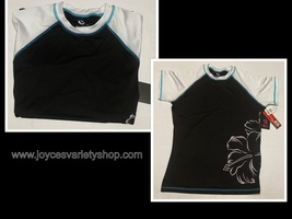 Burnside Women's Floral Print Short Sleeve Swim Tee UPF 35+ Various Sizes - $8.99