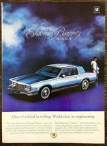 1979 Cadillac El Dorado Biarritz Print Ad One of a Kind Styling Woman Blue Gown - $10.75