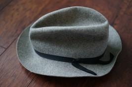 Columbia Sportswear Wool Felt Fedora Hat Gray 71/4 made in USA - $27.99
