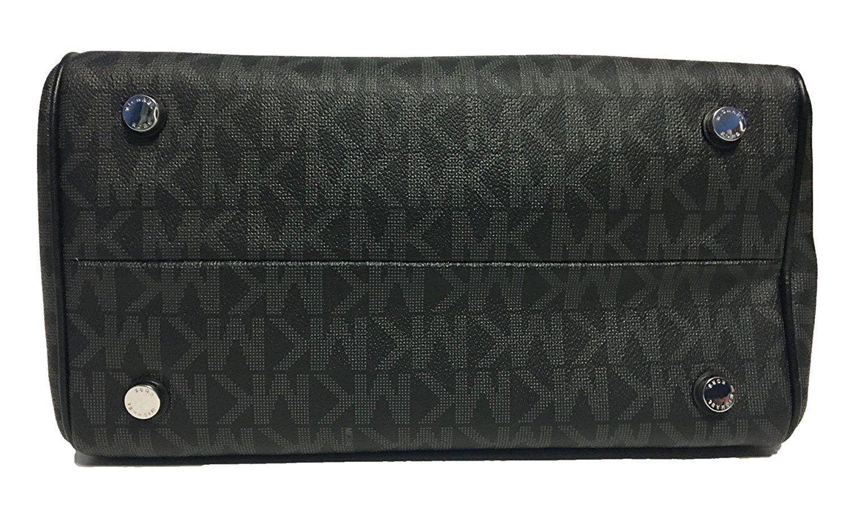 4c07dc1d094c MICHAEL Michael Kors GRAYSON Signature Medium Chain Satchel Women's Bag,  Black