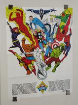 Marvel 1973 Foom poster 1:Iron Man/Thor/Captain America/Avengers/Spider-man/Hulk - $129.99