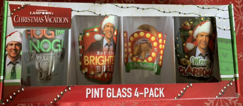Primary image for National Lampoon's Christmas Vacation 4 Pack Pint Glasses Collectors Series