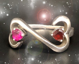 HAUNTED RING MASTER WITCH'S HOLD OUR HEARTS TOGETHER RARE LOVE OOAK MAGICK  - $8,077.77