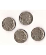4 Buffalo Nickels, 1 is 1927 - ₹380.43 INR