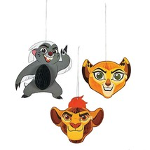 Lion Guard Honeycomb Hanging Decorations 3 Per Package Birthday Party Su... - $5.89