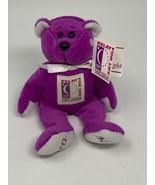 "ACS American Cancer Society Plush Stuffed Bear 7"" ""Hope"" RFL 2002 Relay ... - $14.49"