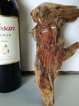 Rare Antique Black Forest HandCarved Wooden German Root face Hobbit Gnom... - $50.00