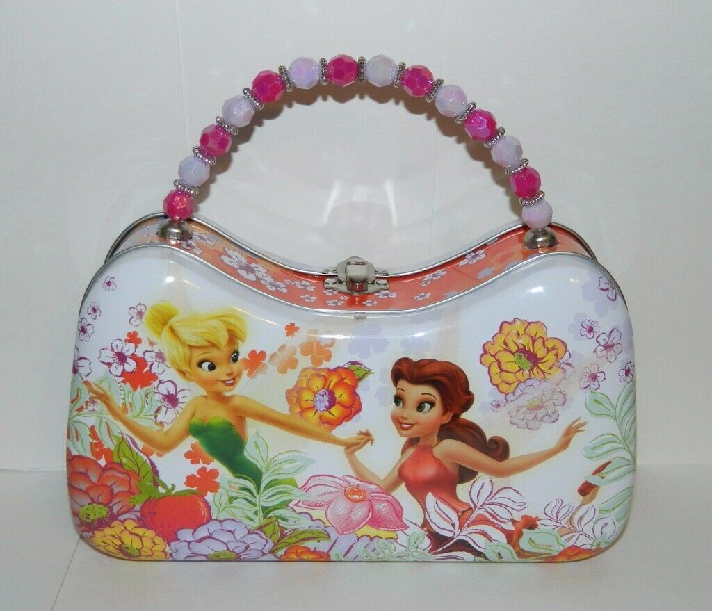 Walt Disney's Tinker Bell Girls Scoop Purse Carry All Tin Tote Style C, UNUSED