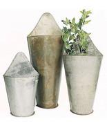 Three Piece Metal Wall Buckets - $143.55