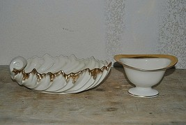 Vintage Two Piece Lot Lenox- Acanthus-Leaf Bowl and Bowl with Gold Trim - $65.00
