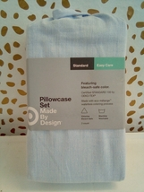 Standard Made By Design Solid Easy Care Pillowcase Set Light Blue NEW! STORE image 1