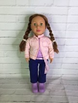 Battat 2005 Doll Long Red Brown Hair Green Eyes Pink Lips With Casual Outfit - $35.64