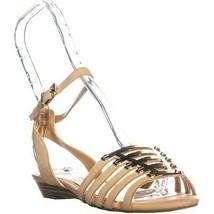 Jessica Simpson Ebelah Ankle Strap Sandals, Natural, 6.5 US - $45.11