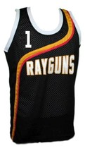 Baron Davis #1 Roswell Rayguns Basketball Jersey Sewn Black Any Size image 4