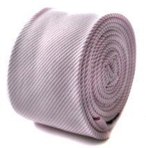 Frederick Thomas Uomo pallido rosa e bianco a righe aderente LINO CRAVATTA - $24.20