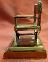 """Vintage Director's Chair Paperweight 2""""  Plaque removed Bottom Front image 2"""