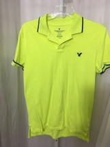 #358– American Eagle Outfitters Neon Yellow Knit Shirt, Size L, Slim Fit- - $7.39