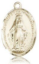 Miraculous Medal - 14KT Gold Medal - No Chain - 0015 - $623.99