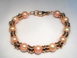 Estate Honora Rose Bronze Cultured Pearl Bracelet Clasp Italy Bracelet C703 - $45.38