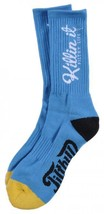 Filthy Dripped Killin' It Sock Black Or Teal Filthy D Contrast O/S Crew Socks image 2