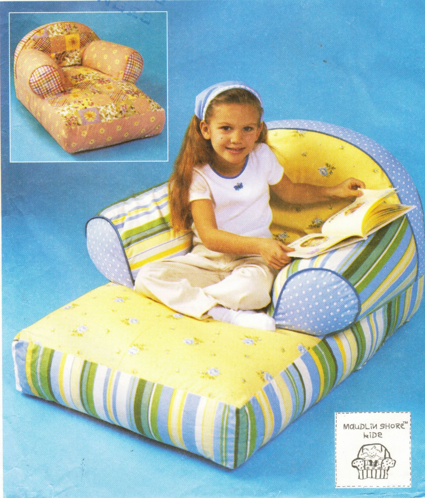 Maudlin Shore Kids Childs Chaise Lounge Chair Zip