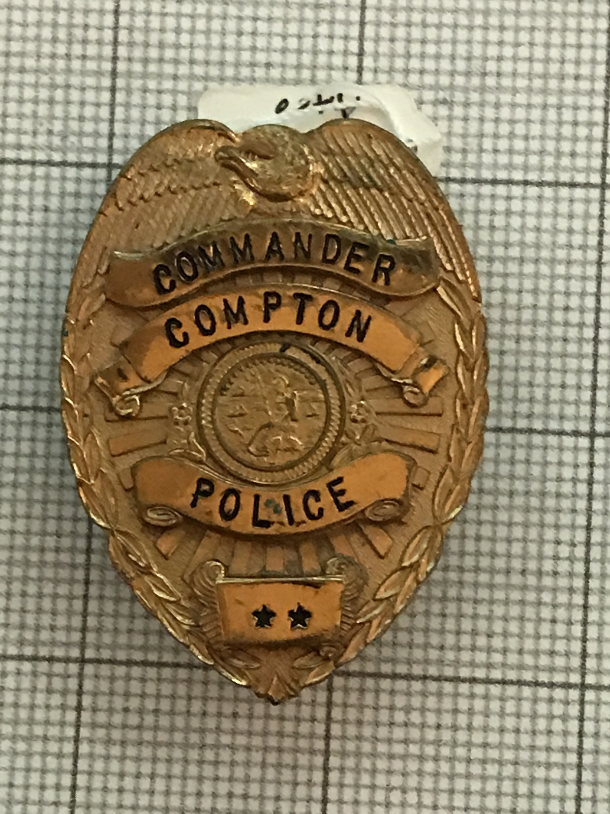 Primary image for Compton California Commander Police Obsolete Badge