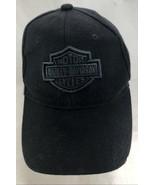 Harley Davidson Baseball Cap Black Gray Embroidery Adjustable - $19.79