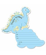 Baby Boy Dinosaur - Shaped Fill-in Invitations - Baby Shower or Birthday... - $20.21