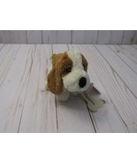 "K Russ 6"" Hush Puppies Plush Brown White Puppy Dog Basset Hound  2013"" Tag - $13.85"