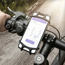 Phone Holder Silicone Bicycle Mount Cell Universal Case iPhone Samsung G... - $14.90