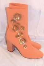 Kenneth Cole New York Alyssa Stretch Knit Floral Heeled Light Pink Blush Size 9 - $89.09