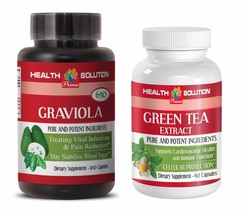 energy boost capsules - GRAVIOLA – GREEN TEA COMBO 2B - green tea packets - $23.33