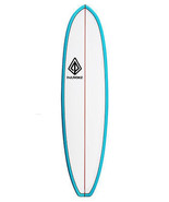 """Paragon Lil Dipper 6'11"""" White -Turquoise Rails Surfboard - $400.00"""