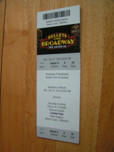 Bullets Over Broadway Or  Mister (The Scrapbook Tour)  Unused Ticket Stub - $3.99