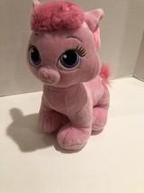 "Build a Bear Palace Pets Aurora's Pink Kitty12""T Purple Eyes Heart print12"" - $10.39"