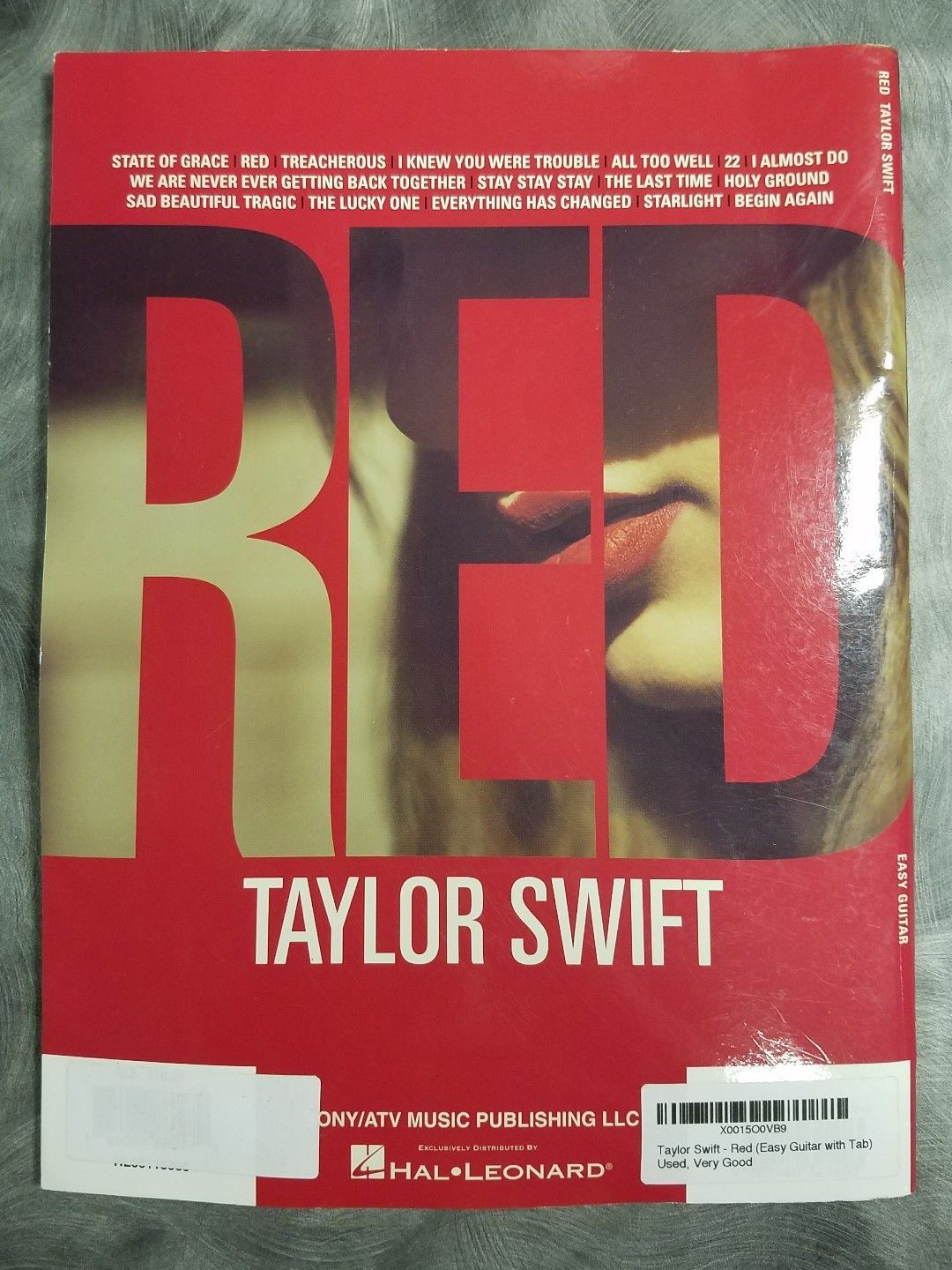 Taylor Swift Red For Easy Guitar Tab Sheet And 50 Similar Items