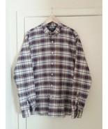 Claiborne Men Shirt Plaids 100%Cotton Slim Fit Size XL - $16.58