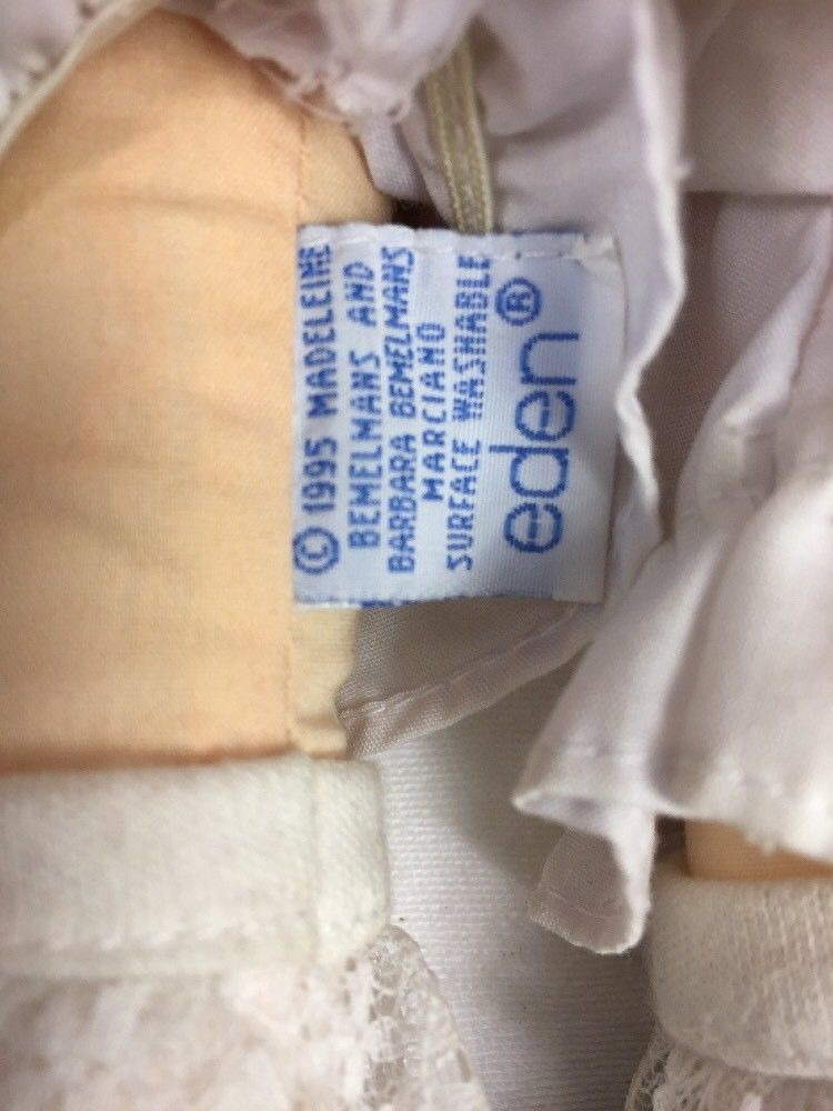 "Eden Sweets N Treats Madeline Plush Rag Doll w/ Geneve Cookie Cutter 18"""