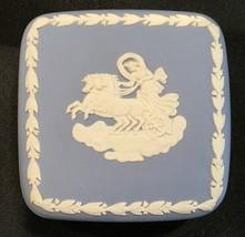 "Wedgwood Blue Jasperware Square Lidded Trinket Box 3"" - $24.99"