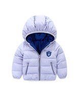 80-120cm Winter Boys Outerwear Solid Cotton Girl Coat Newborn Baby Snowsuit Infa - $30.73