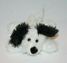 "MTY Mini 5"" PUPPY DOG White Black Ears Nose Plush Small Stuffed Animal S... - $23.12"