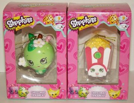 Shopkins Christmas Ornament Lot of 2 Kids Collectible NEW - $10.00