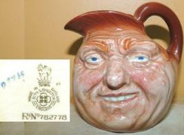 """Royal Doulton Jug 3.5"""" John Barleycorn c1937? mark D5735? Toby Character... - $58.49"""